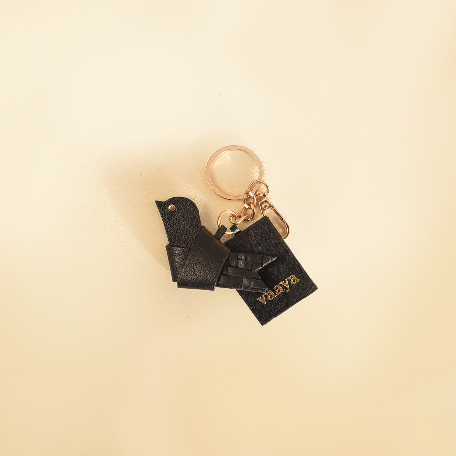 The Little Bird Keyring - Coal