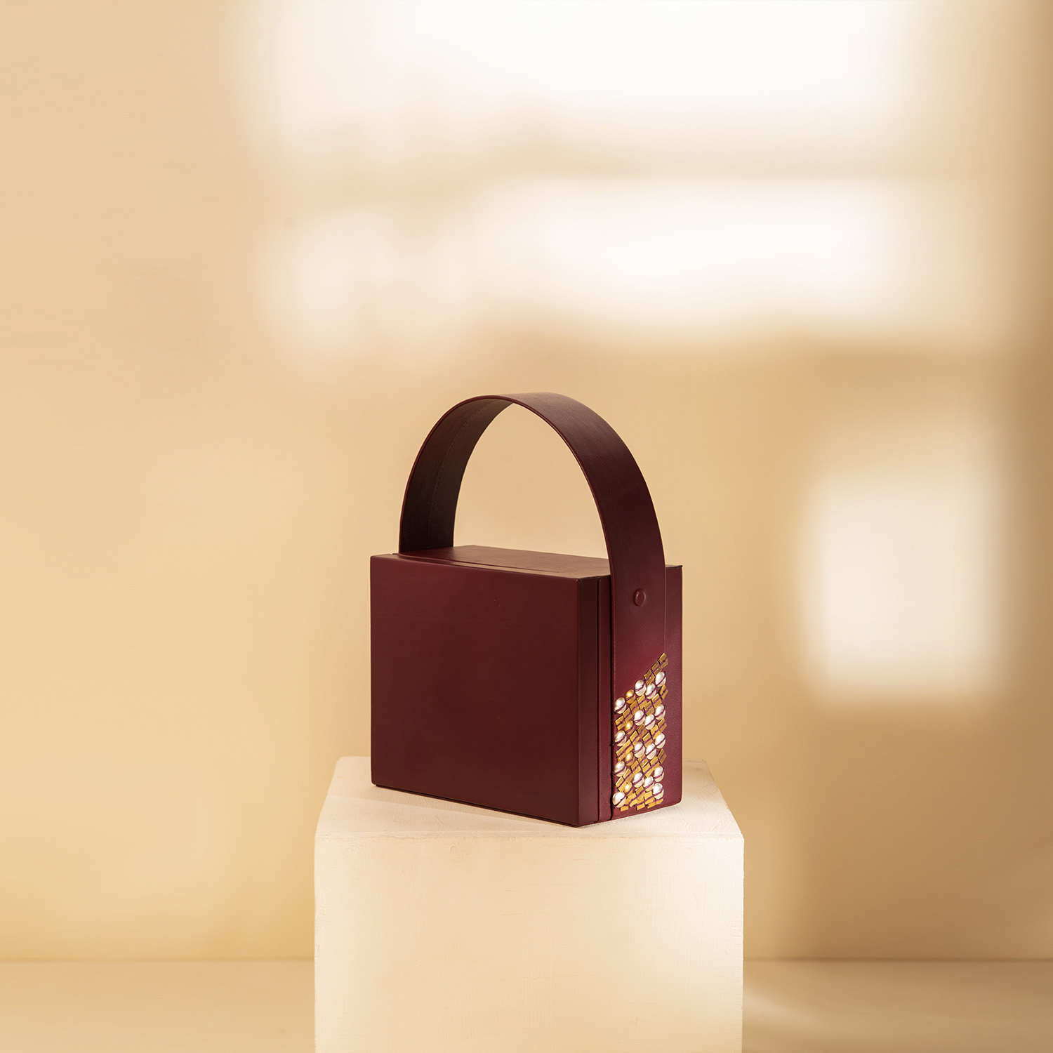 The Box Bag - Cherry