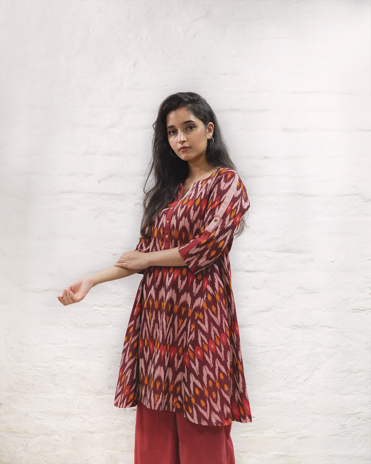 catalog/AA-Summer Musings/burgundy Ikat 2.jpg