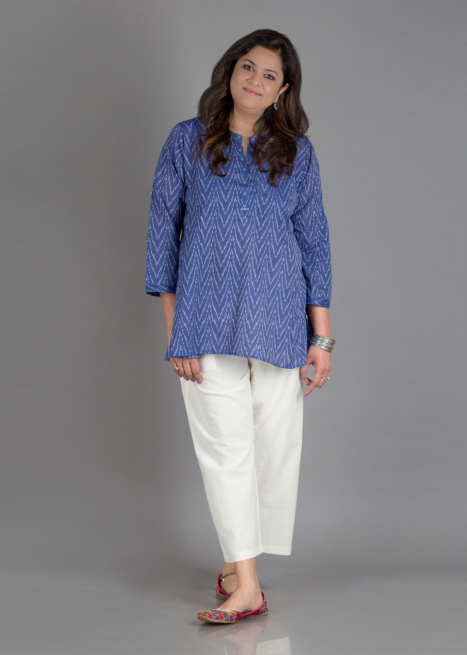 Blue Breeze Mercerized Ikat Shirt