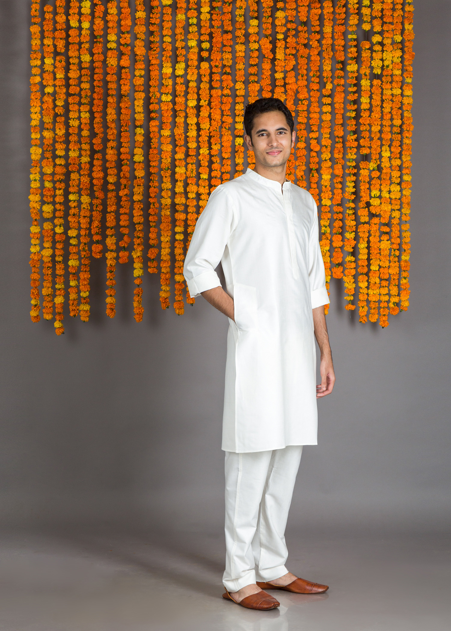 Off-White Silk Cotton Kurta