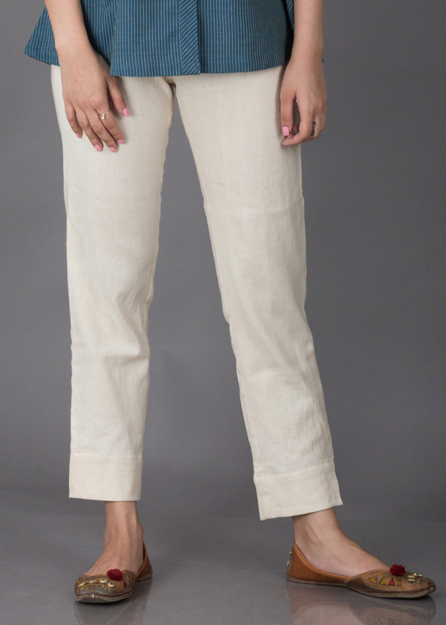 Handwoven Cotton Slim Pants