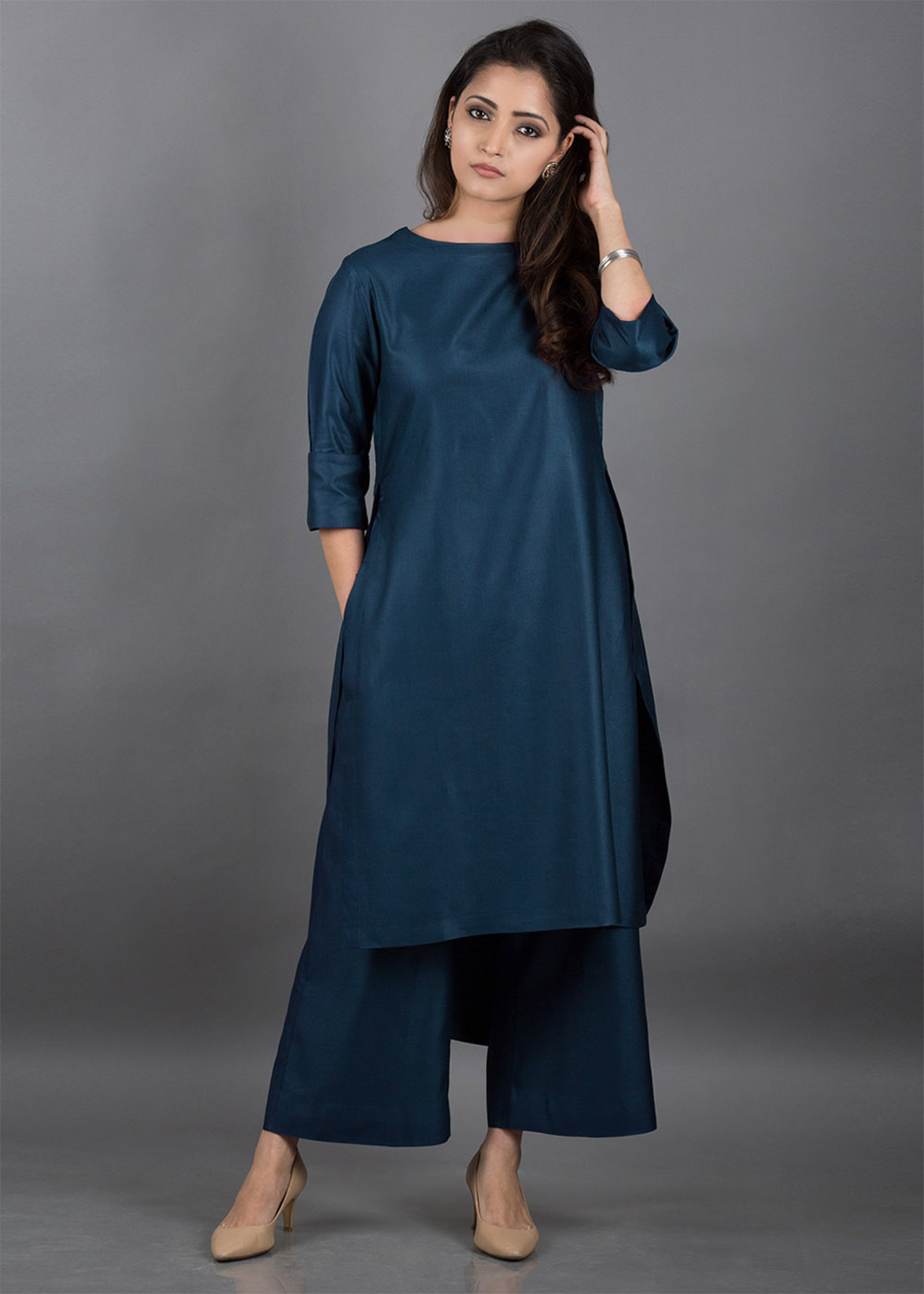 Midnight Silk Cotton Ensemble