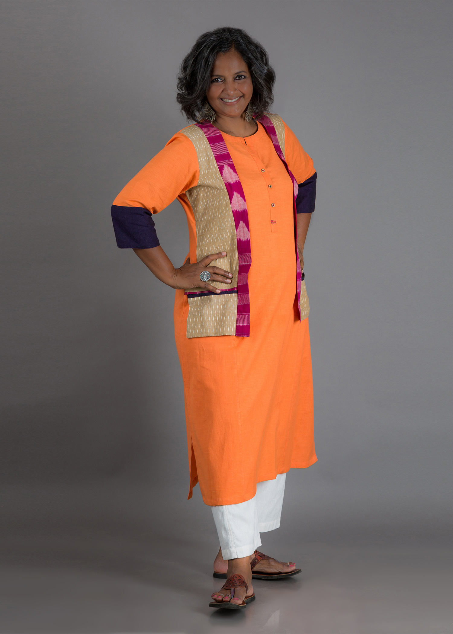 The Tangerine Jacket Kurta