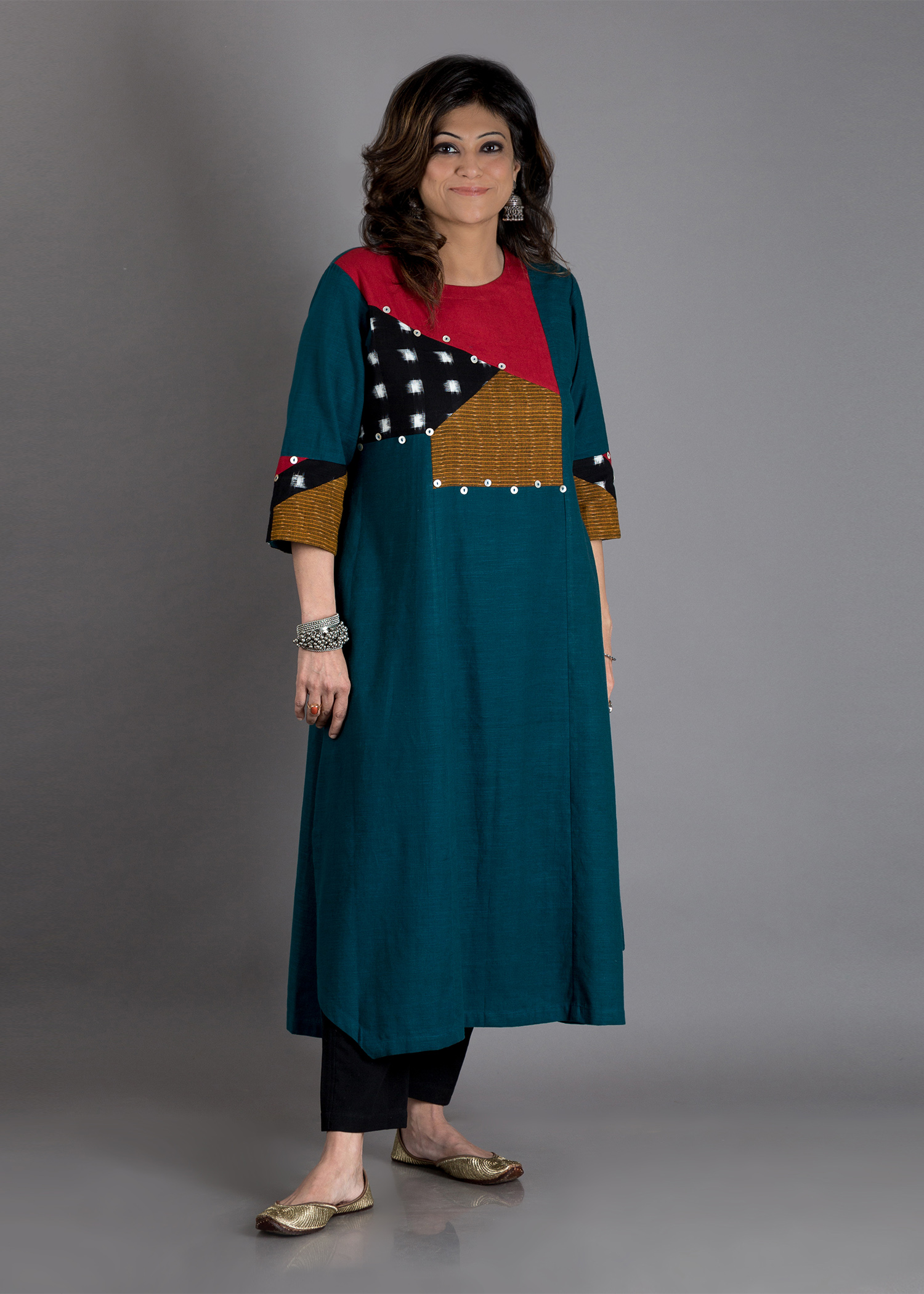 The Teal Mosaic Kurta