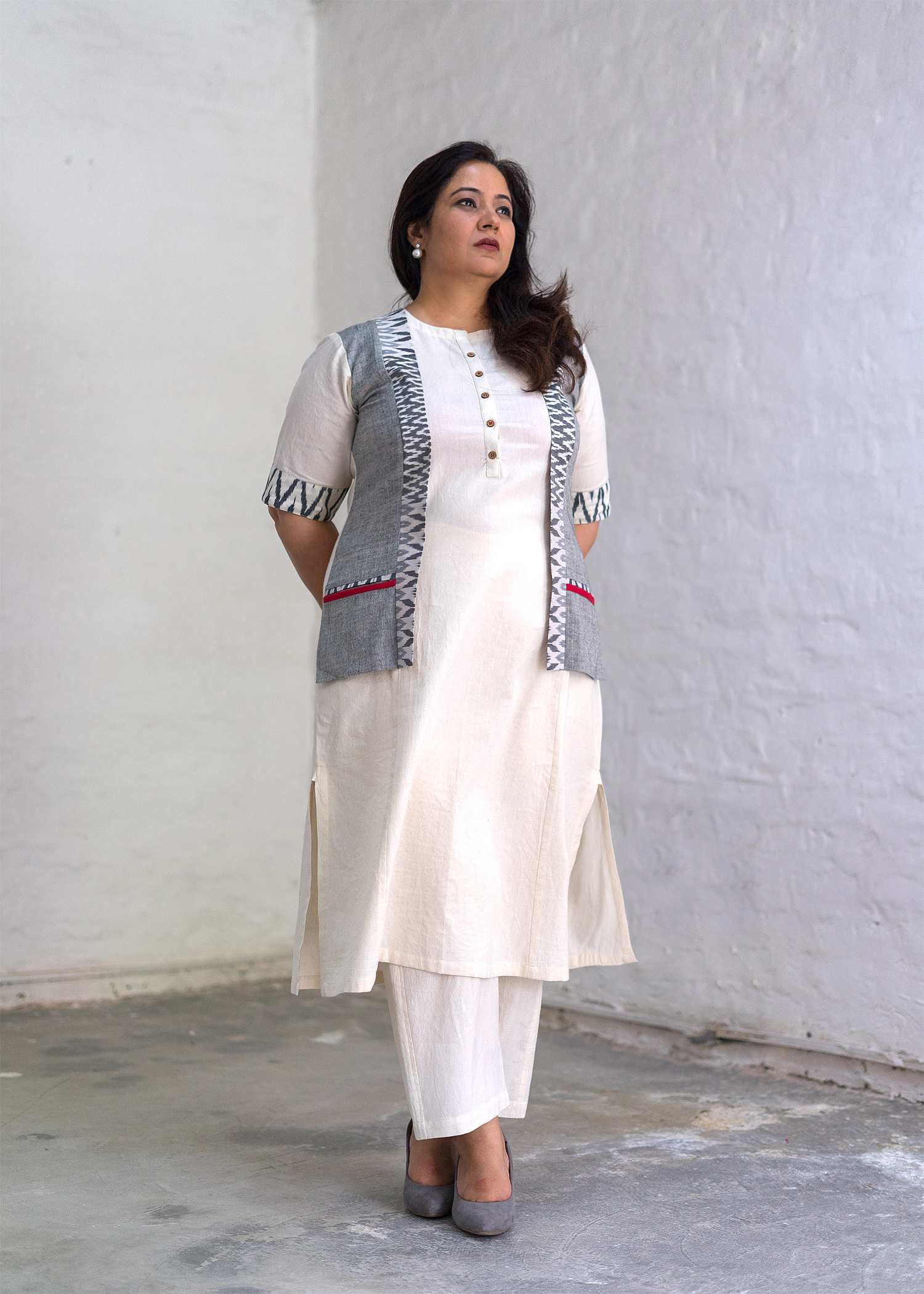 The Ivory Jacket Kurta